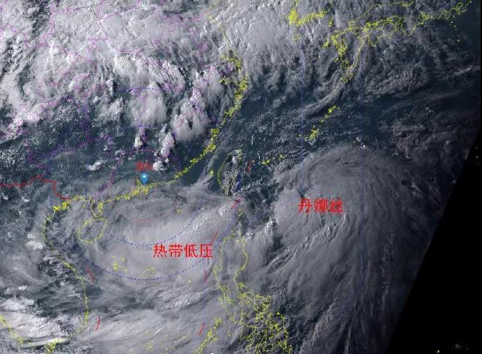"""第5号台风""""丹娜丝""""已生成!今日起,深圳天气的画风……"""